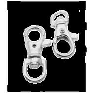 Verzilverde sleutelhanger 35x15mm