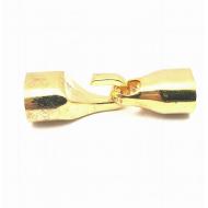 Goudkleur Metalen Sluiting Haak -10x7mm koord
