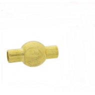 Sluiting - Goud - bol buisje  magneet  17 x 12 mm