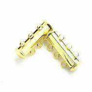 Sluiting Magneet- goud - 3 haakjes - 20 mm