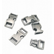 Vintage zilver/zwart Sluiting 3/8