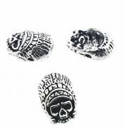 Metalen-kraal-Chief-Indian-Skull