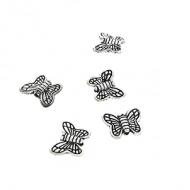Spacer-kraal-Vlinder-zilveren