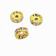 Spacer-strass-10mm-goud