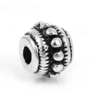 Metalen Kraal 8x6mm