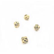 kraal Pompoen Goud 4mm