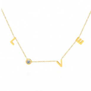 Ketting Stainless Love Goud