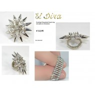 Spikes Ring stretch