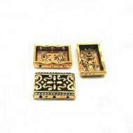 Goudkleur metalen Verdeler bewerkt 3 gaten