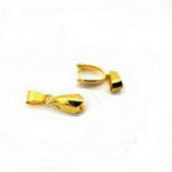 Klemmetje voor hanger - goudkleur 20mm
