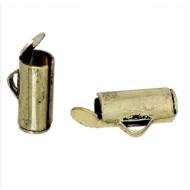 Eindkap-schuif-brons-10mm