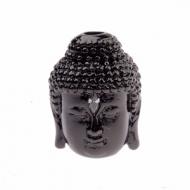 Kraal Zirconia Boeddha Zwart