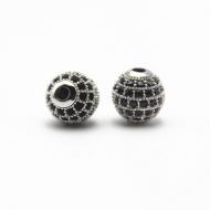 Kraal-zirkonia-10mm-zilver
